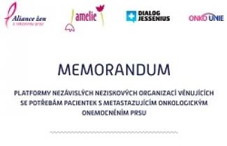 Memorandum O zlepšení podmínek pro ženy s metastatickou rakovinou prsu